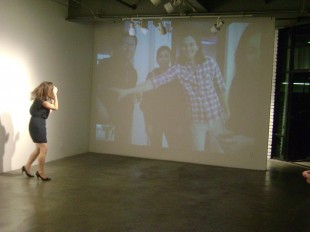 Here I am at RAID, using the installation to interact with gallery-goers at Workspace.