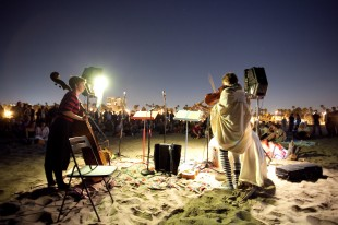 Laura Steenberge and Heather Lockie performing at the Nautical Music Encampment. (Photo credit: Glow)