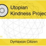 The front of the name tags distributed to all Utopian Citizens.